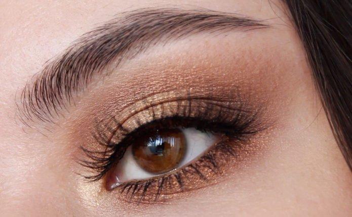 макияж золото и бронза