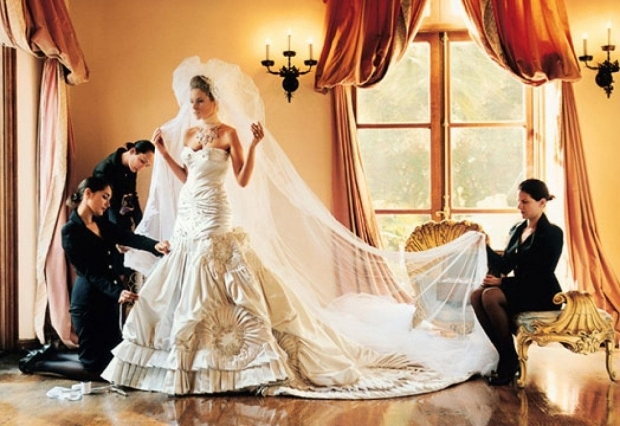 Мелания Трамп в свадебном платье