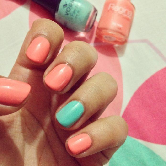 mint-manicure-1-695x695 Мятный маникюр – фото идей дизайна