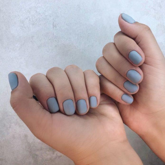 мятный маникюр короткие ногти