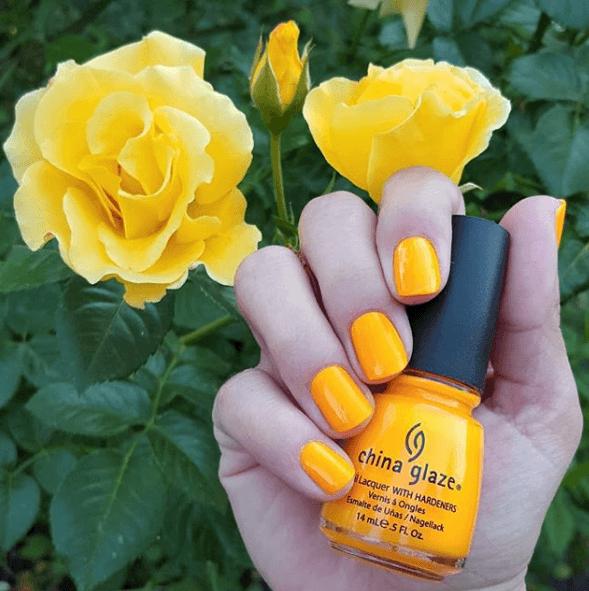Оранжево-жёлтый маникюр