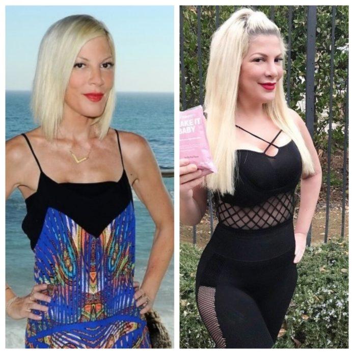 Тори Спеллинг до и после похудения