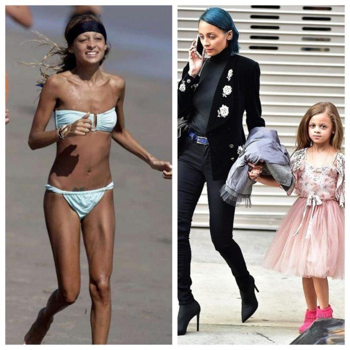 Николь Ричи до и после похудения
