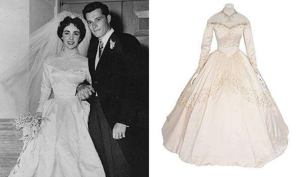 Свадьба Элизабет Тейлор и платье