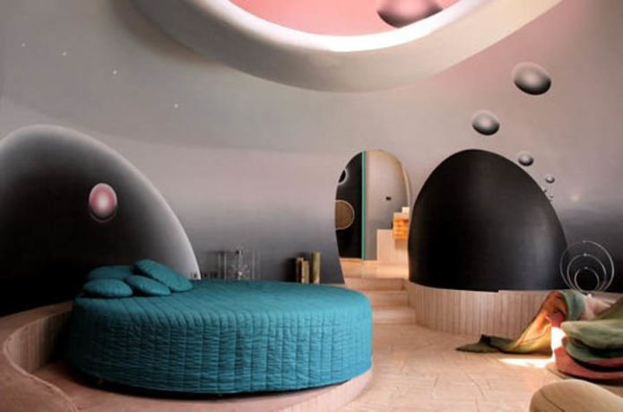 Интерьер пузырчатого дома