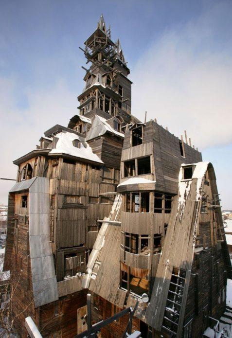 Деревянный небоскрёб в Архангельской области