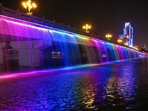 Южная Корея. Фонтан радуги