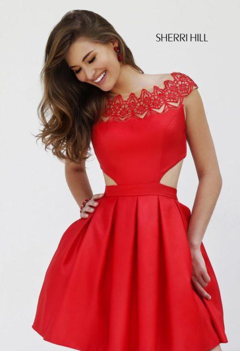 Самые красивые платья:яркое мини с пышной юбкой