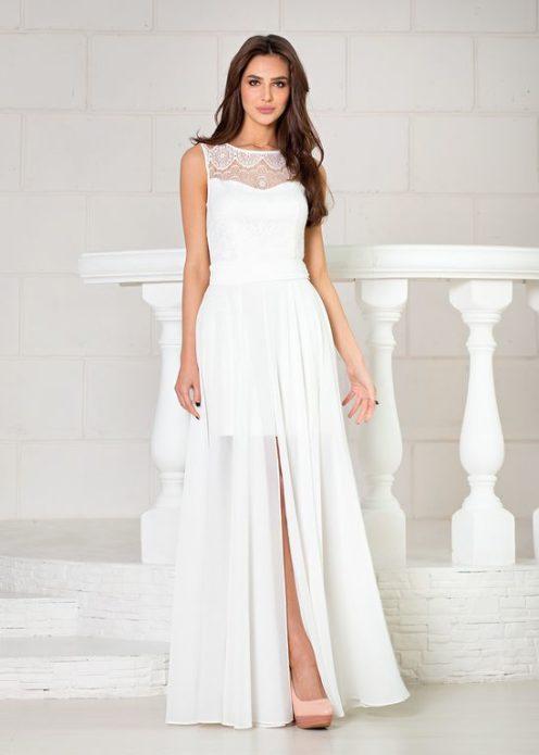 Белое платье-трансформер
