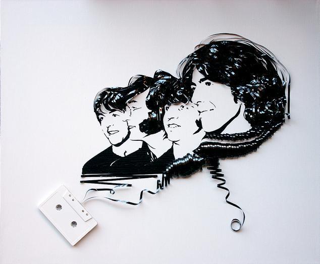 Картина из кассетной пленки