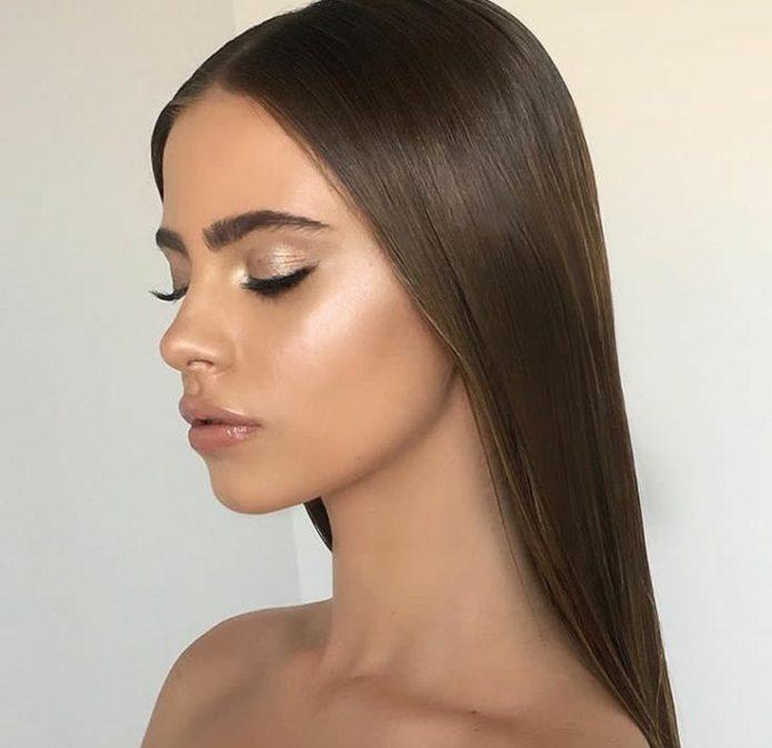 Дневной макияж в золотистых тонах