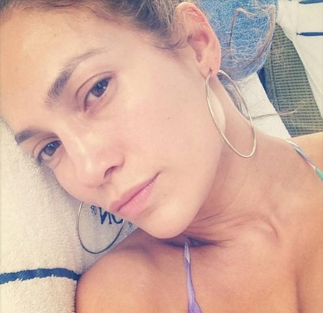Дженнифер Лопес без макияжа крупным планом