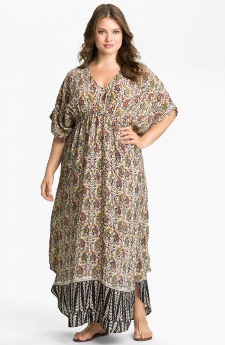 Платье бохо для полной женщины