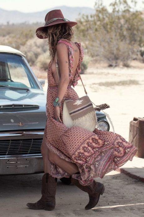 Платье бохо в ковбойском стиле