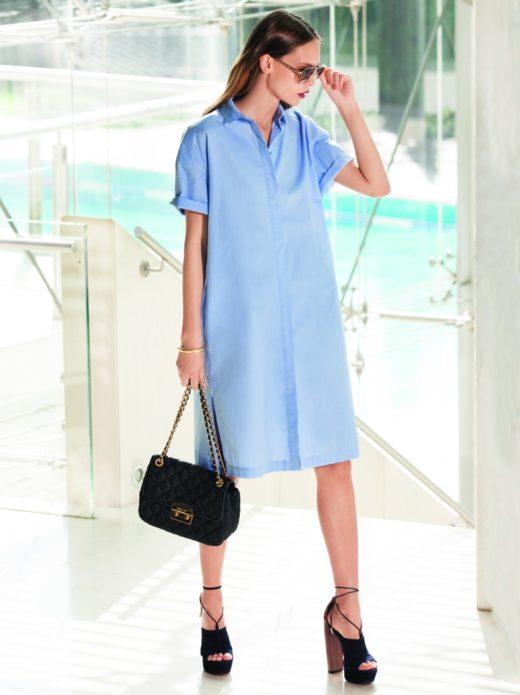 Строгое платье бохо, подходящее для обуви на высоком каблуке