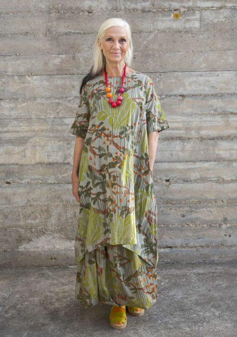 Платье бохо для зрелой дамы