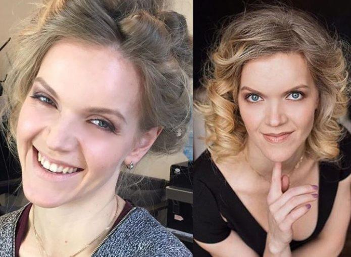 Девуша с золотистым оттенком кожи как идеальная модель для греческого макияжа