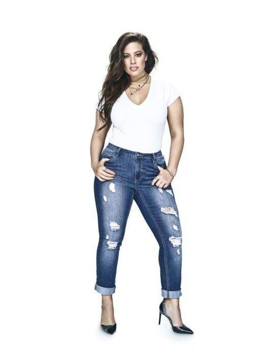 Укороченный джинсы для полных девушек