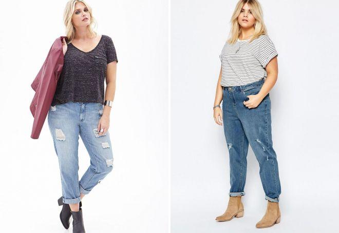 Рваные джинсы светлый и темный варианты