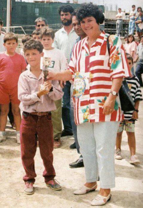 Маленький Роналду и его кубок