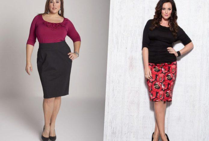 Модели юбки-карандаш для полных женщин
