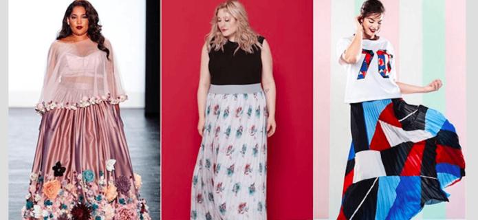 «Веселые» модели юбки в пол для полных женщин
