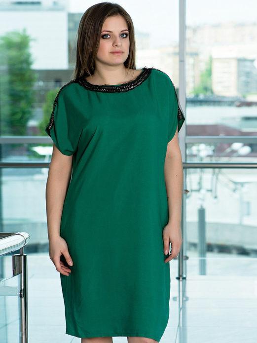 Деловое платье-туника для полной женщины