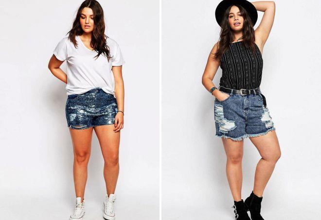 Джинсовые шорты для полных женщин