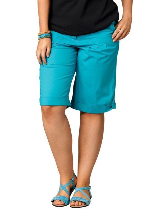 Голубые летние шорты для полной женщины