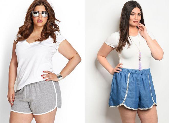 Спортивные летние шорты для полной женщины