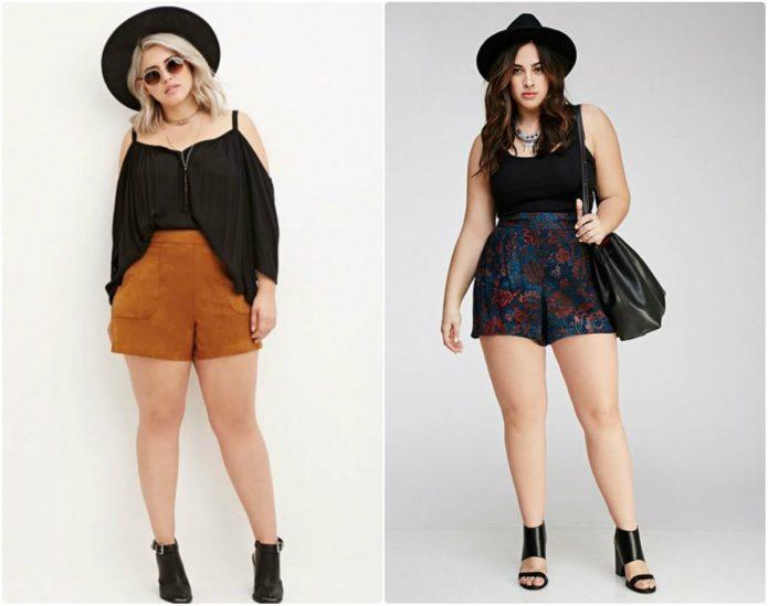 Летние шорты для полной женщины в стиле бохо