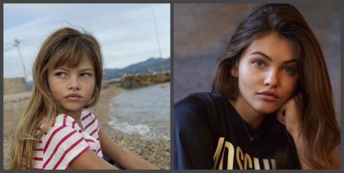 Тилан Блондо в детстве и сейчас