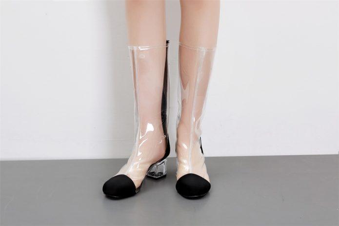 резиновая обувь прозрачная