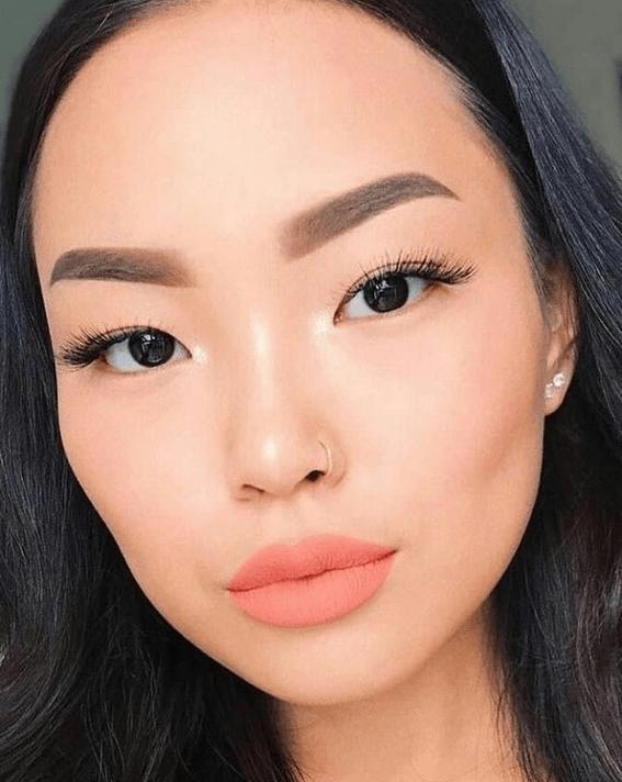 Макияж для азиатских глаз без век фото