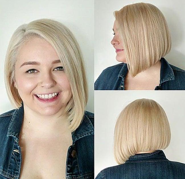 Причёска, скрывающая второй подбородок