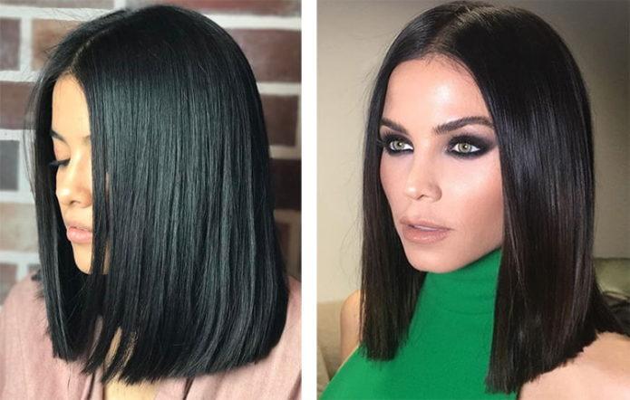 Причёска с ровным срезом