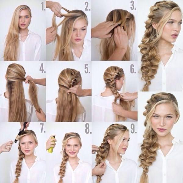 Пошаговая инструкция для плетения боковой косы