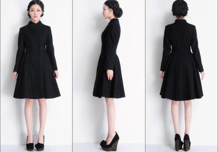 Девушка в приталенном пальто