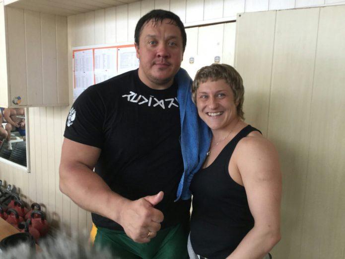 Екатерина Зайцева с тренером