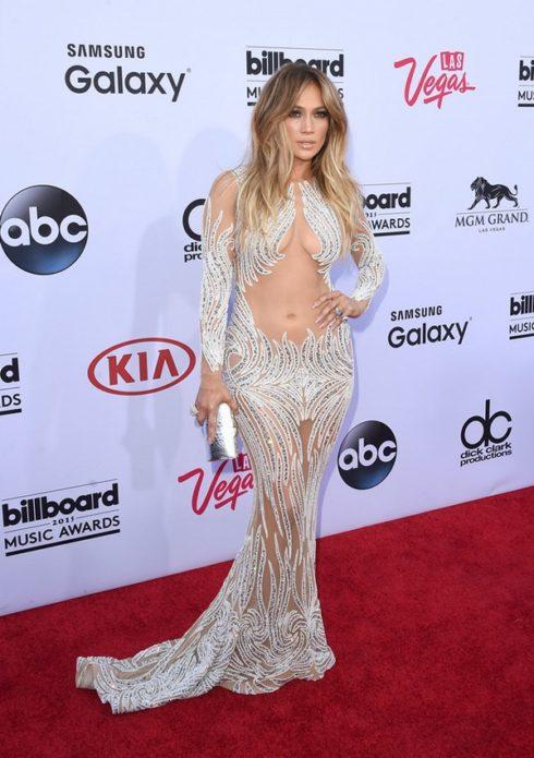 Дженнифер Лопес в вечернем платье
