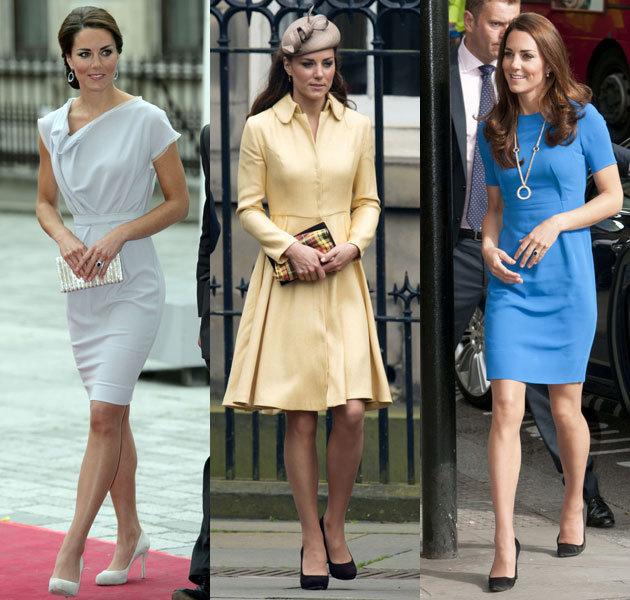 Кейт Мидлтон в разных платьях