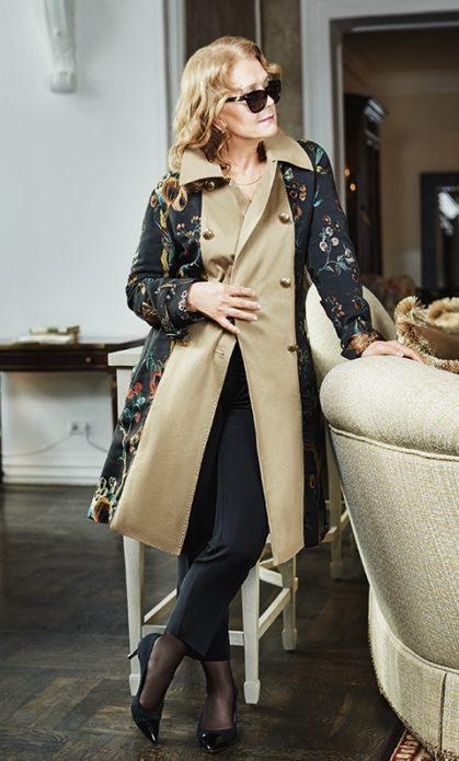 Ирина Алфёрова в пальто