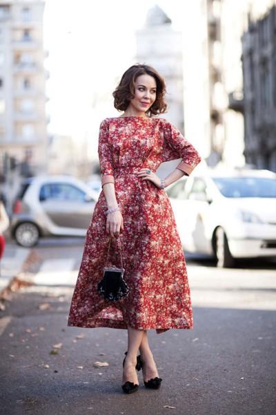 Ульяна Сергиенко в красном платье