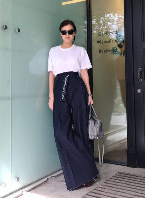 Елена Темникова в брюках