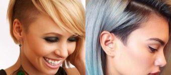Асимметричное каре на средние волосы
