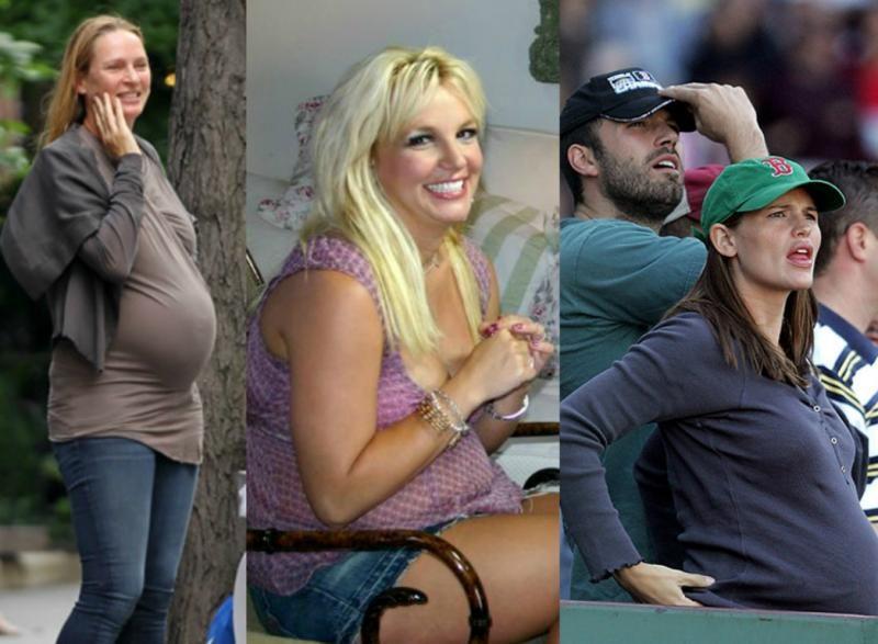 Беременные звезды Голливуда