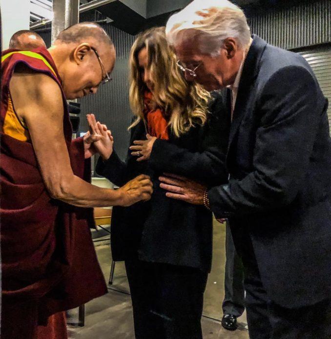 Ричард Гир, Алехандра Сильва и Далай-лама