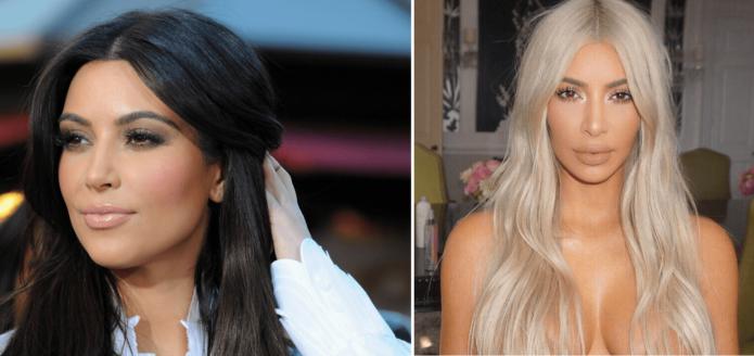 Ким Кардашьян блонд