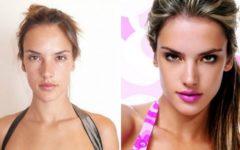 Модели «Виктории Сикрет» без макияжа