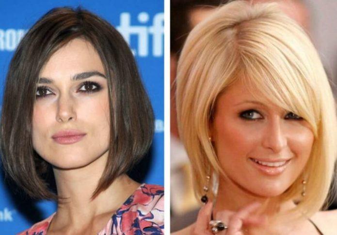 Причёска для квадратного и трапецивидного лица